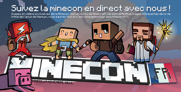 support us to the Minecon !