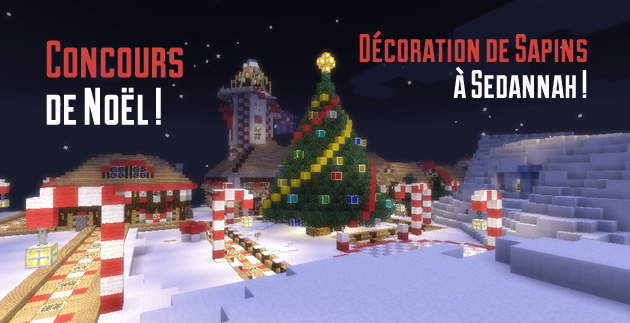 concours de sapin minecraft !